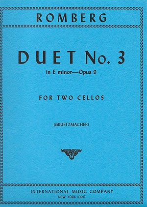 Romberg: Duet No.3: Eminor: Op.9: 2 Cellos (International)