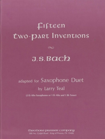Inventions 2pt: Bwv772-bwv786: Saxophone Duet