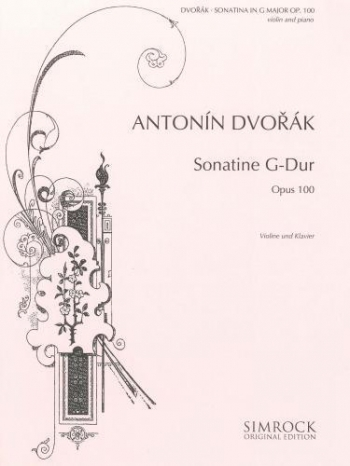 Sonatina G  Major Op.100: Violin & Piano (Simrock)