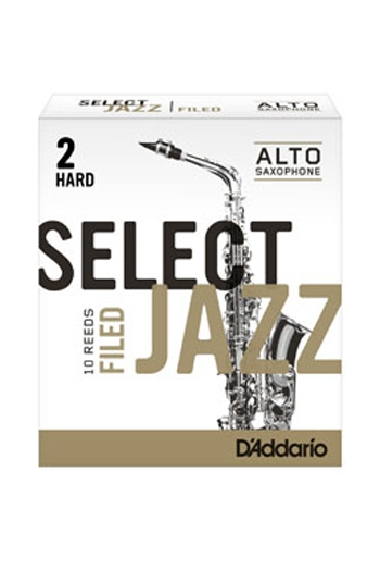 D'Addario Select Jazz Alto Saxophone Reeds Filed