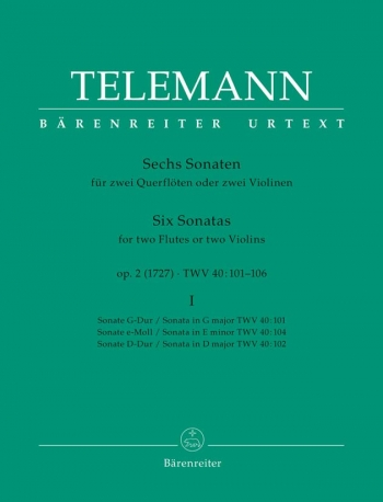 6 Sonatas: Vol1: 2 Flutes (Barenreiter)