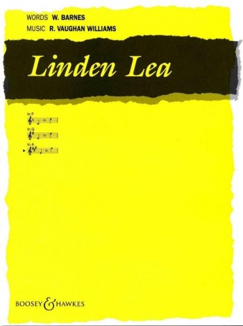 Linden Lea: A Major High Voice And Piano - English