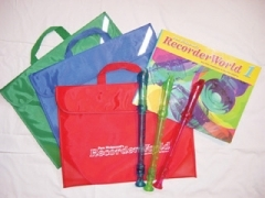 Recorder World Pack: Book 1: Pupils Book: Green Recorder: Green Music Case