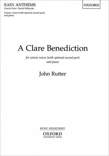 Clare Benediction: Vocal Upper  SA