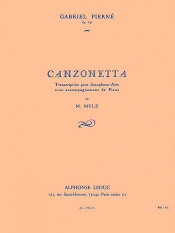 Canzonetta: Op19: Alto Saxophone