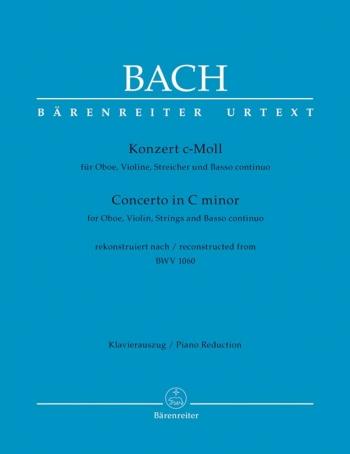 Concerto C Minor Bwv1060R: Violin and Oboe (Barenreiter)