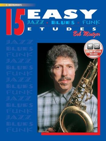 15 Easy Jazz Studies In Jazz and Blues Etudes: Alto Saxophone : Book & CD