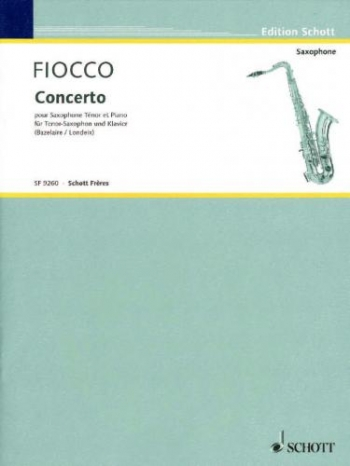 Concerto: Trans For Tenor Saxophone