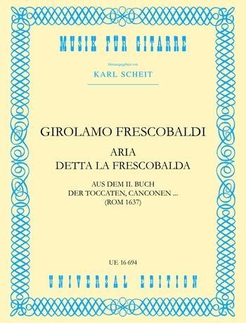 Aria Detta La Frescobaldi: Guitar