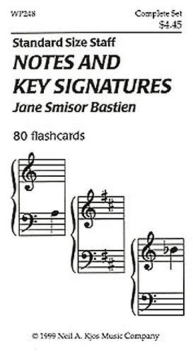 Bastien Flashcards: Notes and Key Sig Flashcards