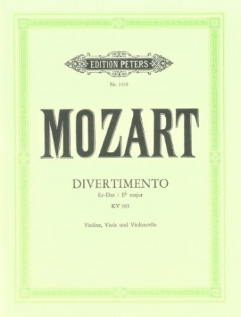 Mozart: Divertimento: String Trio: VLn Vla Vc: Score and Parts