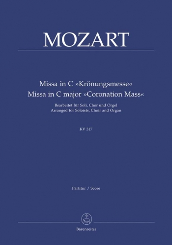 Missa In C: Kv317: Coronation Mass Vocal Score (Barenreiter)