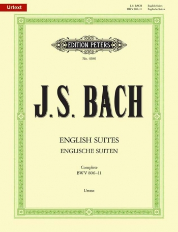 English Suites Bwv806-11: Piano (Peters)