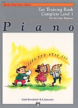 Alfred's Basic Piano Library For The Later Beginner: Complete Level 1: Ear Training Book