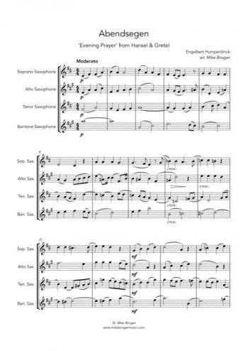 Abendsegen: Saxophone Quartet