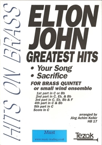 Your Song: Sacrifice: Brass Quintet: Elton John arr Keller