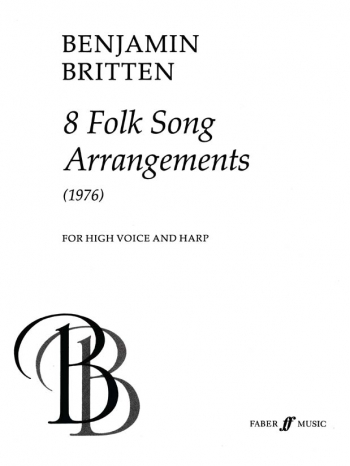 Folk Song Arrangements: High Voice: Vocal and Harp (Faber)
