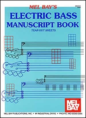 Mel Bays Electric Bass Manuscript Book