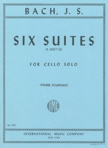 6 Cello Suites Bwv1007-1012: Cello Solo  (International)