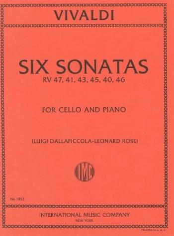 6 Sonatas: Cello & Piano (International)