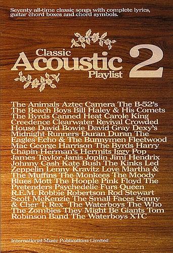Classic Acoustic Playlist 2: Guitar Chords and Lyrics