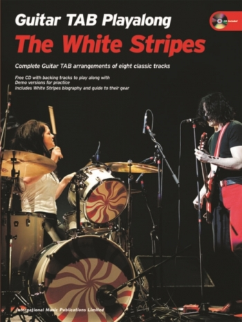 Playalong Guitar Series: Whtie Stripes: Guitar Tab: Book & CD