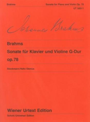 Violin Sonata Op78: Violin& Piano  (Wiener Urtext)