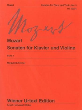 Sonatas: 3: Violin and Piano  (Wiener Urtext)