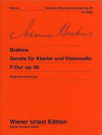 Sonata F Major Op.99: Cello & Piano  (Wiener Urtext)