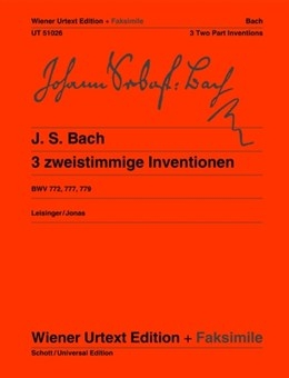 Three Two Part Inventions: Facsimile: Piano (Wiener Urtext)
