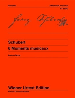 6 Moments Musicaux: Piano   (Wiener Urtext)