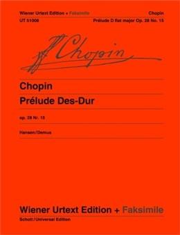 Prelude: Op.28/15 Db Major: Facsimile: Piano (Wiener Urtext)
