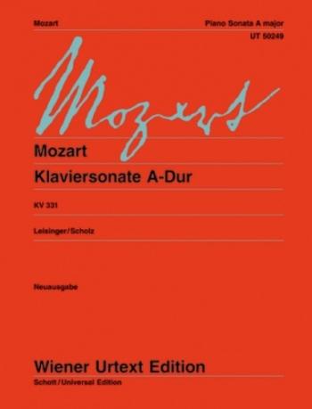Sonata: A: Kv331: Piano (Wiener Urtext)