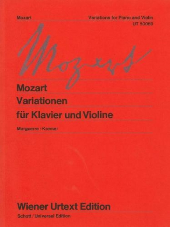 Variations For Violin and Piano (Wiener Urtext)