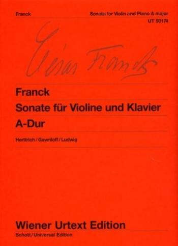 Sonata: A Major: Violin And Piano  (Wiener Urtext)