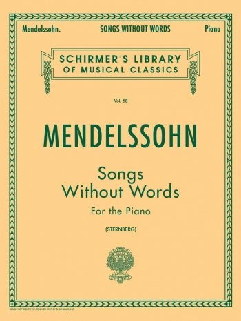 Songs Without Words: Piano (Schirmer Ed)