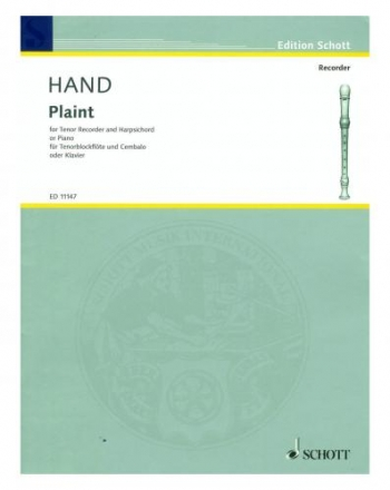 Plaint: Tenor Recorder and Harpischord