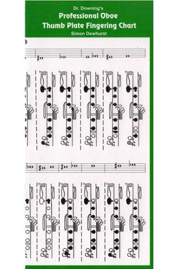 Dr Downing Professional Thumb Plate Oboe Fingering Chart