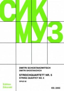 Shostakovich: String Quartet: No 5: Score and Parts