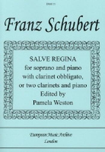 Salve Regina: Soprano Or 2 Clarinet and Piano