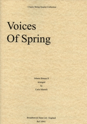 Voices Of Spring: String Quartet: Parts