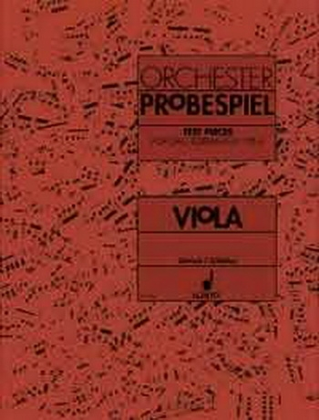 Test Pieces For Orchestral Auditions Viola (Orchester Probespiel)