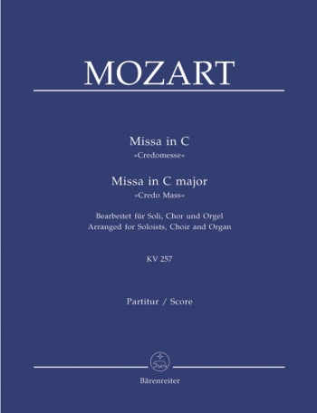 Credo Mass In C: Kv257: Vocal Score (Barenreiter)