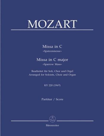 Sparrowmass In C: Kv220: Vocal score (Barenreiter)