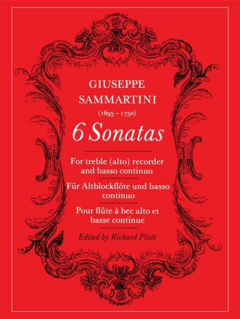6 Sonatas: Treble Recorder and Continuo (Archive Copy) (Faber)