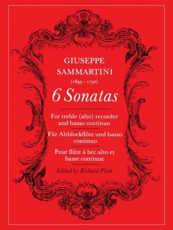 6 Sonatas: Treble Recorder and Continuo (Archive Copy) (Faber)