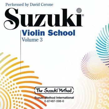 Suzuki Violin School Vol.3 Violin CD