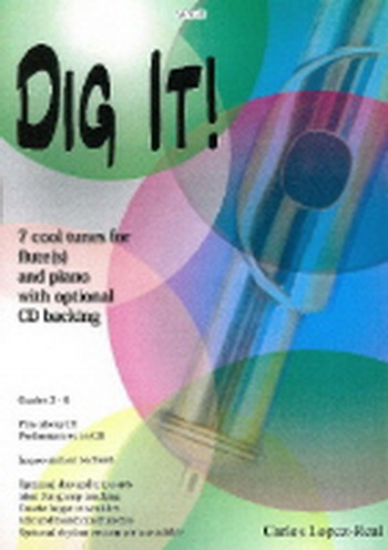 Dig It: 7 Cool Tunes: Flute & Piano: Pts&cd
