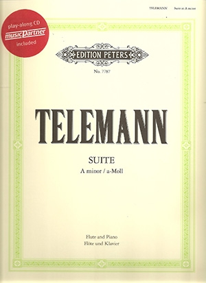 Suite A Minor: Flute and Piano: Book & CD (Peters)