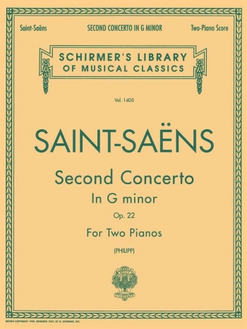 Concerto In G Minor No 2: Op.22: Piano (Schirmer Ed)
